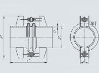 Компенсатор угловой двухлинзовый ОСТ 34-10-574-93