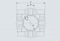 Опора неподвижная лобовая четырехупорная усиленная трубопроводов DH 426÷1420 мм (Т7)