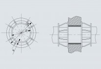 Опора неподвижная щитовая усиленная трубопроводов DH 108÷1420 мм (Т9)