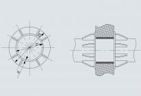 Опора неподвижная щитовая трубопроводов DH 108÷1420 мм (Т8)